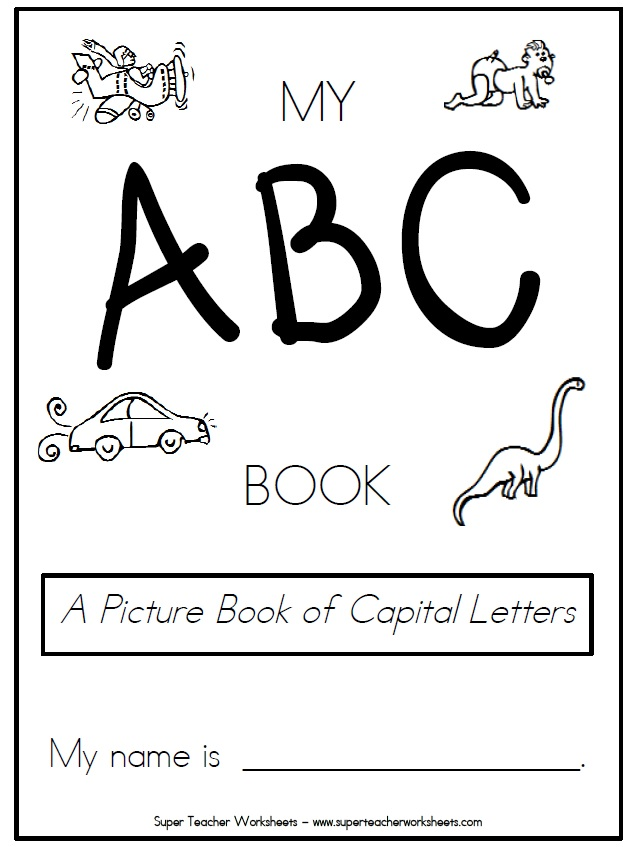 photograph about Abc Book Printable named Printable Reserve of Cash Letters