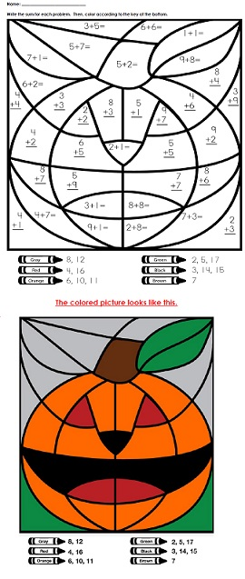 math worksheet : a halloween addition mystery picture : Super Teacher Worksheets Addition And Subtraction