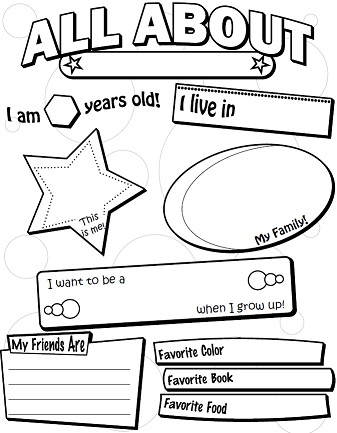 image regarding All About Me Free Printable Worksheet titled All Pertaining to Me Poster