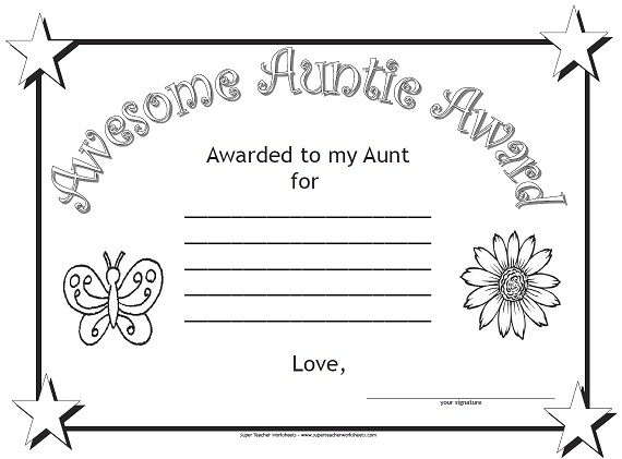 Awesome Auntie Award