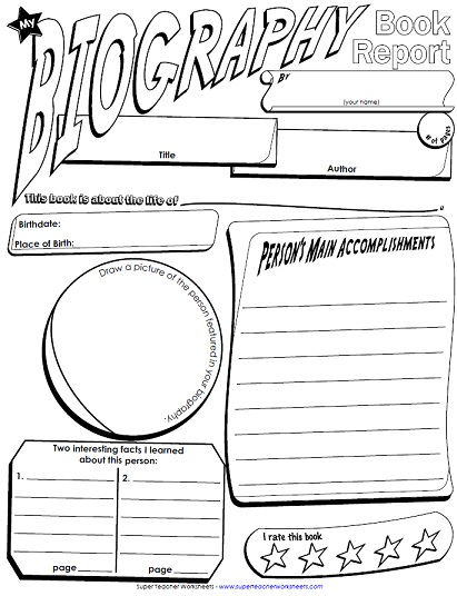 photo relating to Printable Biography Worksheets identified as A Printable E book Write-up Poster