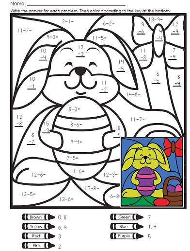 Super Teacher Worksheets together with easter coloring addition