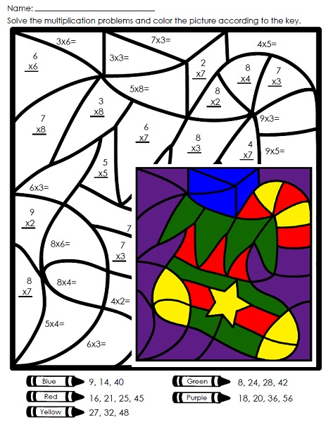 Holiday multiplication coloring page search results calendar 2015
