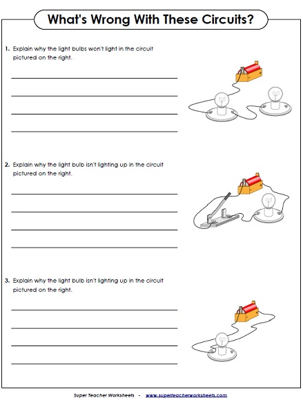 Printables Electrical Circuit Worksheets science worksheets electricity worksheets