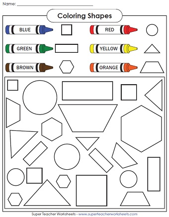 shape coloring - Coloring Pages Shapes