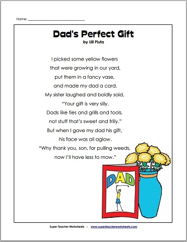 math worksheet : father s day poem for dad : Dads Worksheets Multiplication