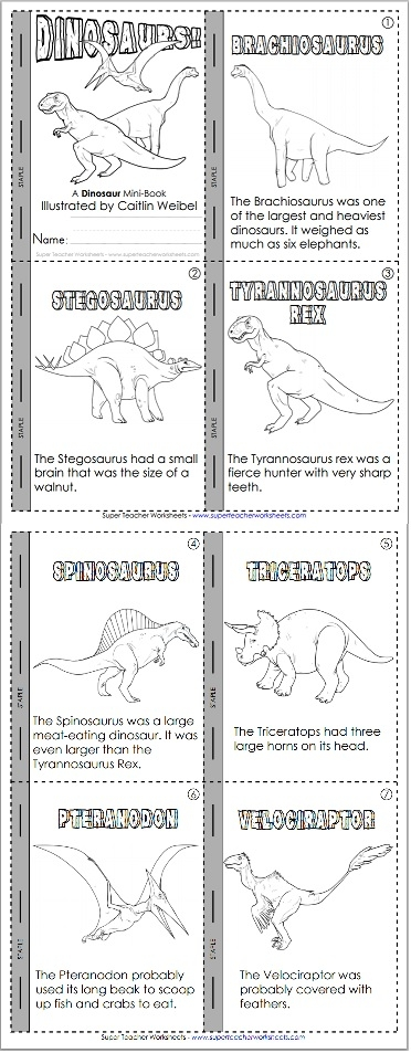 photograph regarding Printable Mini Booklets known as Dinosaur Reality Booklet