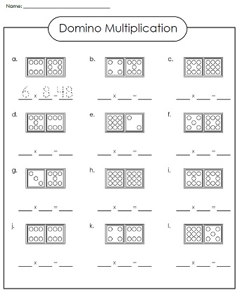 math worksheet : a printable multiplication worksheet : Domino Math Worksheets