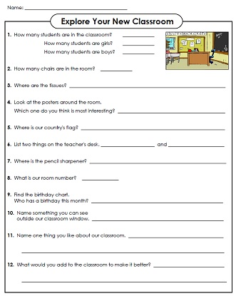 Printable Back to School Activity