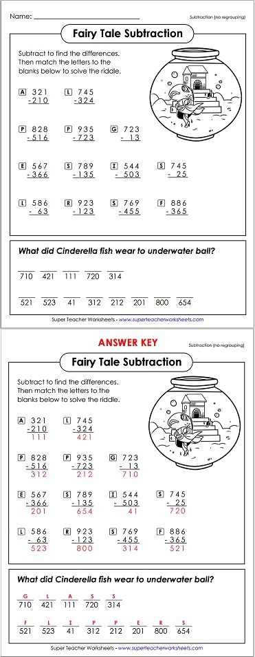 math worksheet : subtraction math riddle : Math Worksheets With Riddles