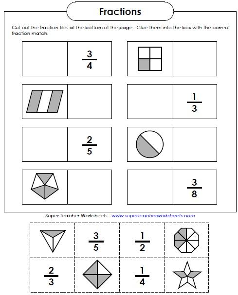 Worksheets in addition super teacher worksheets fractions on grade 3