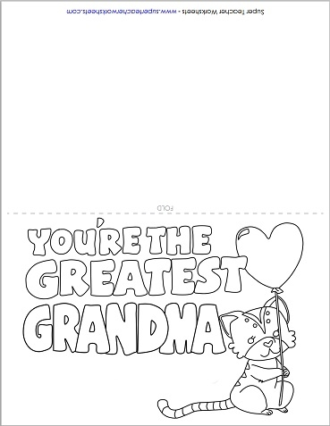 mother 39 s day card for grandma. Black Bedroom Furniture Sets. Home Design Ideas