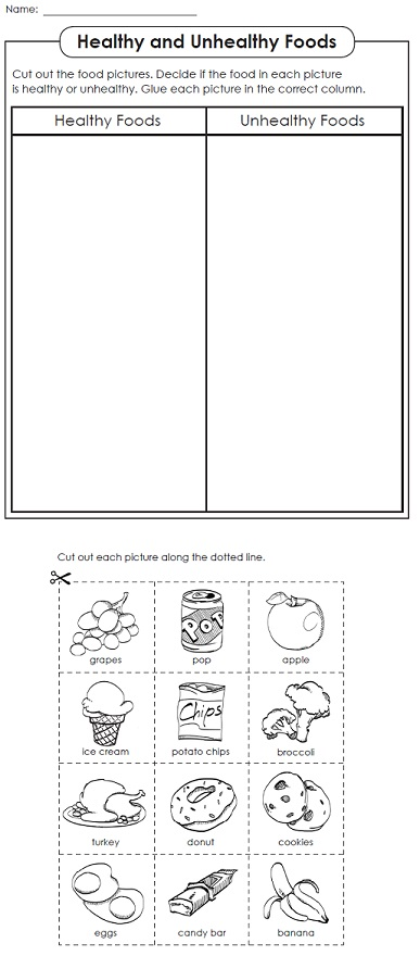 Healthy food worksheets. Kentucky food stamps