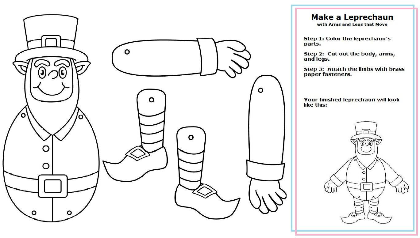 math worksheet : leprechain craft : Kindergarten Body Parts Worksheet