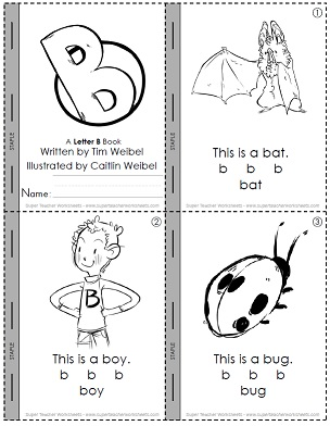 Each book includes eight illustratred pages on consant sounds vowels