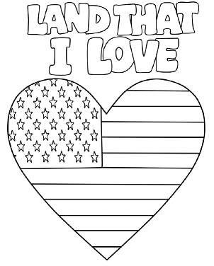 Printable Coloring Page for Independence Day