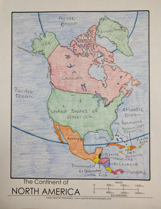 photo relating to Printable North America Map known as Printable North The us Map