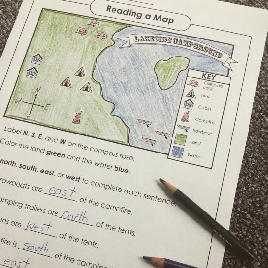 Reading A Map. Reading A Map Activity. Worksheet. Super Teacher Worksheet Digit Values At Mspartners.co