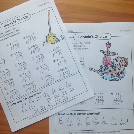 Worksheets Math Riddles Worksheets riddles collection math collection