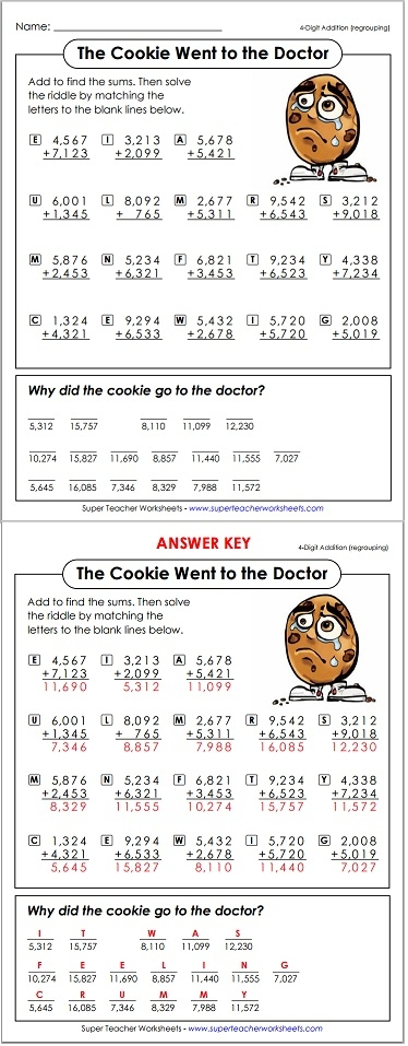 Worksheets Math Riddle Worksheets math riddle cookie riddle