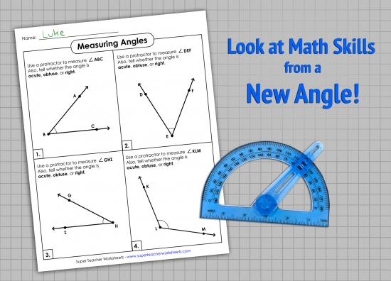 Angle Measurement Worksheets