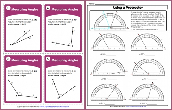 Measuring Angles. Worksheet. Measuring Angles Worksheet At Mspartners.co