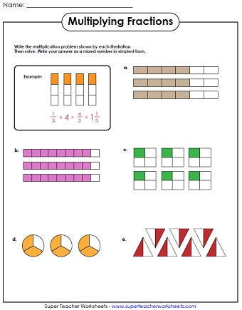 math worksheet : multiplying fractions : Multiplying Fractions Worksheet