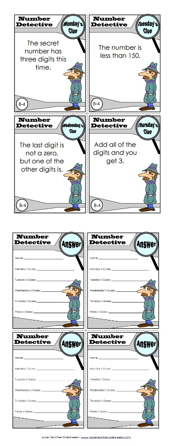 image regarding Printable Detective Games identify Amount Detective Math Video game