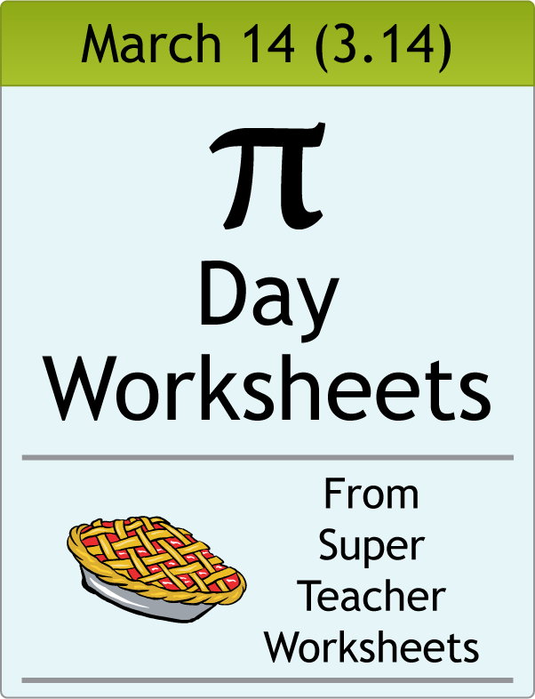 It is a picture of Accomplished Pi Day Worksheets Printable