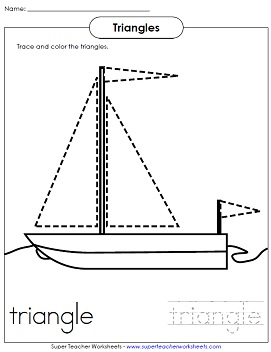 Worksheet Triangles Worksheet triangle sailboat worksheet worksheet