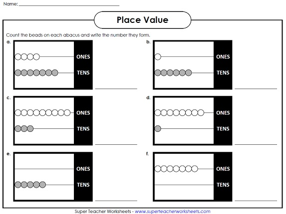 A Printable Place Value Worksheet – Kindergarten Place Value Worksheets