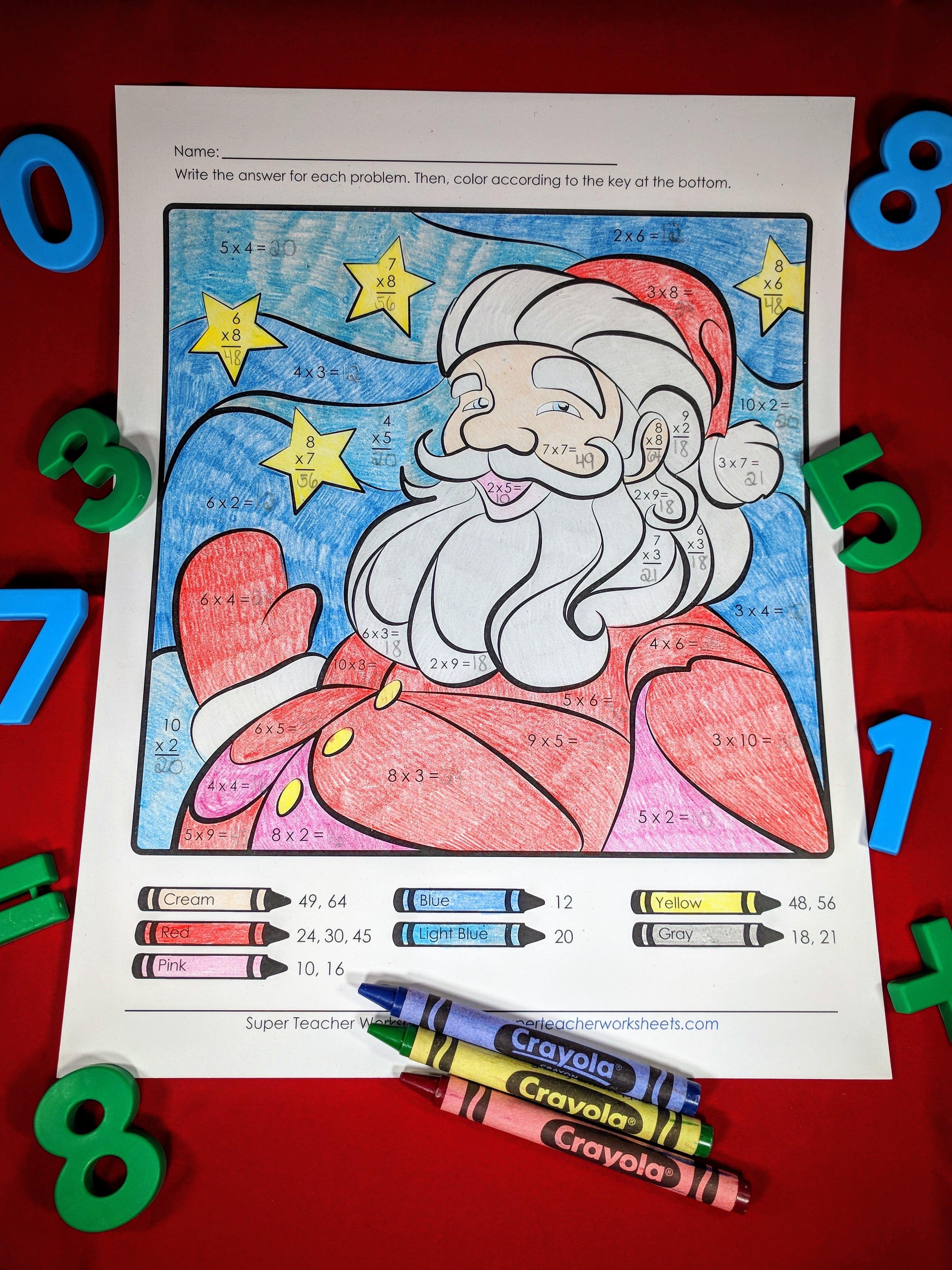 Santa Multiplication Activity