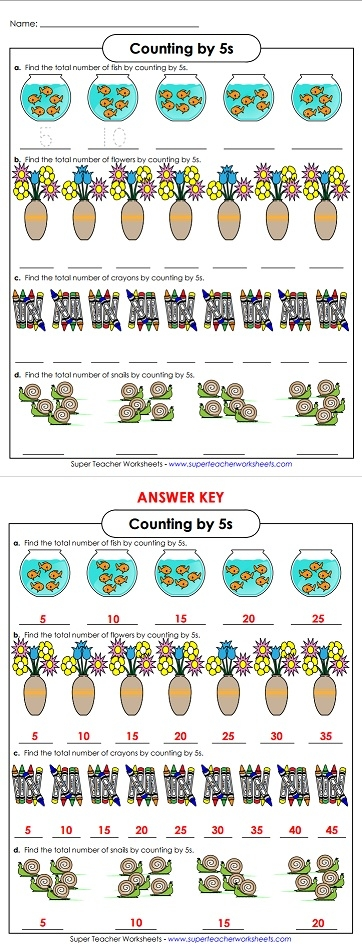 Skip Counting By Five