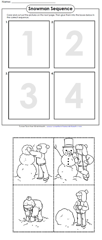 a printable worksheet for winter