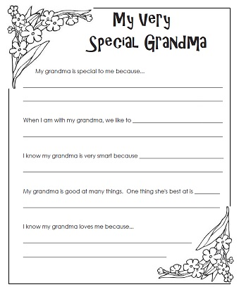photo about All About My Grandma Printable identified as A Moms Working day Present for Grandma