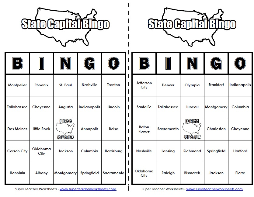 Worksheets State Worksheets state capitals worksheet super teacher worksheets