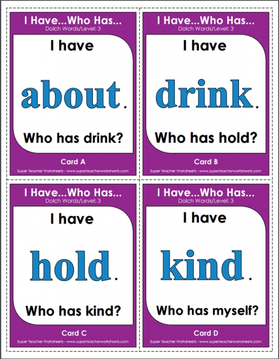 graphic about Printable Sight Word Games named Dolch Sight Terms Clroom Match