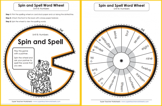 Spelling Word Wheels