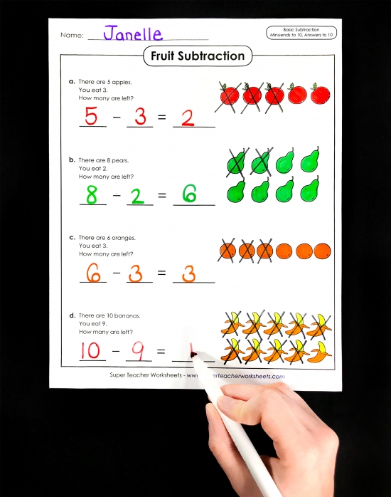 Basic Subtraction Activities for Kids