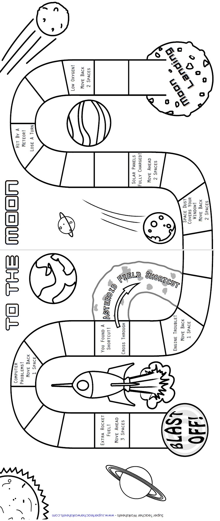 Worksheets Solar System Worksheet printable board game to the moon game