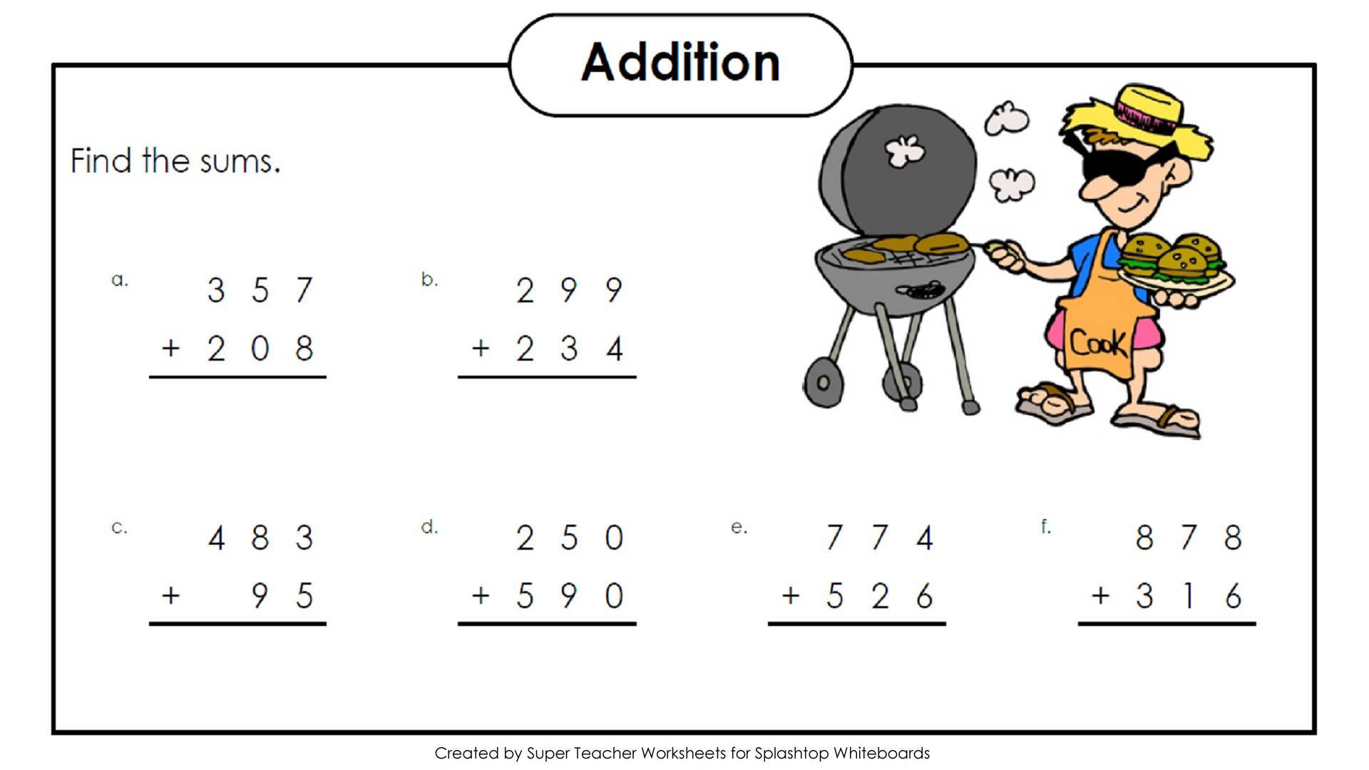 math worksheet : splashtop whiteboard background graphics : Math 3 Digit Addition Worksheets