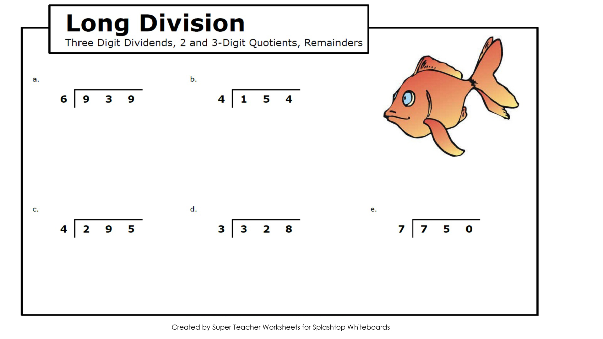 Worksheets Super Teacher Worksheets Division splashtop whiteboard background graphics long division 3 digit dividends