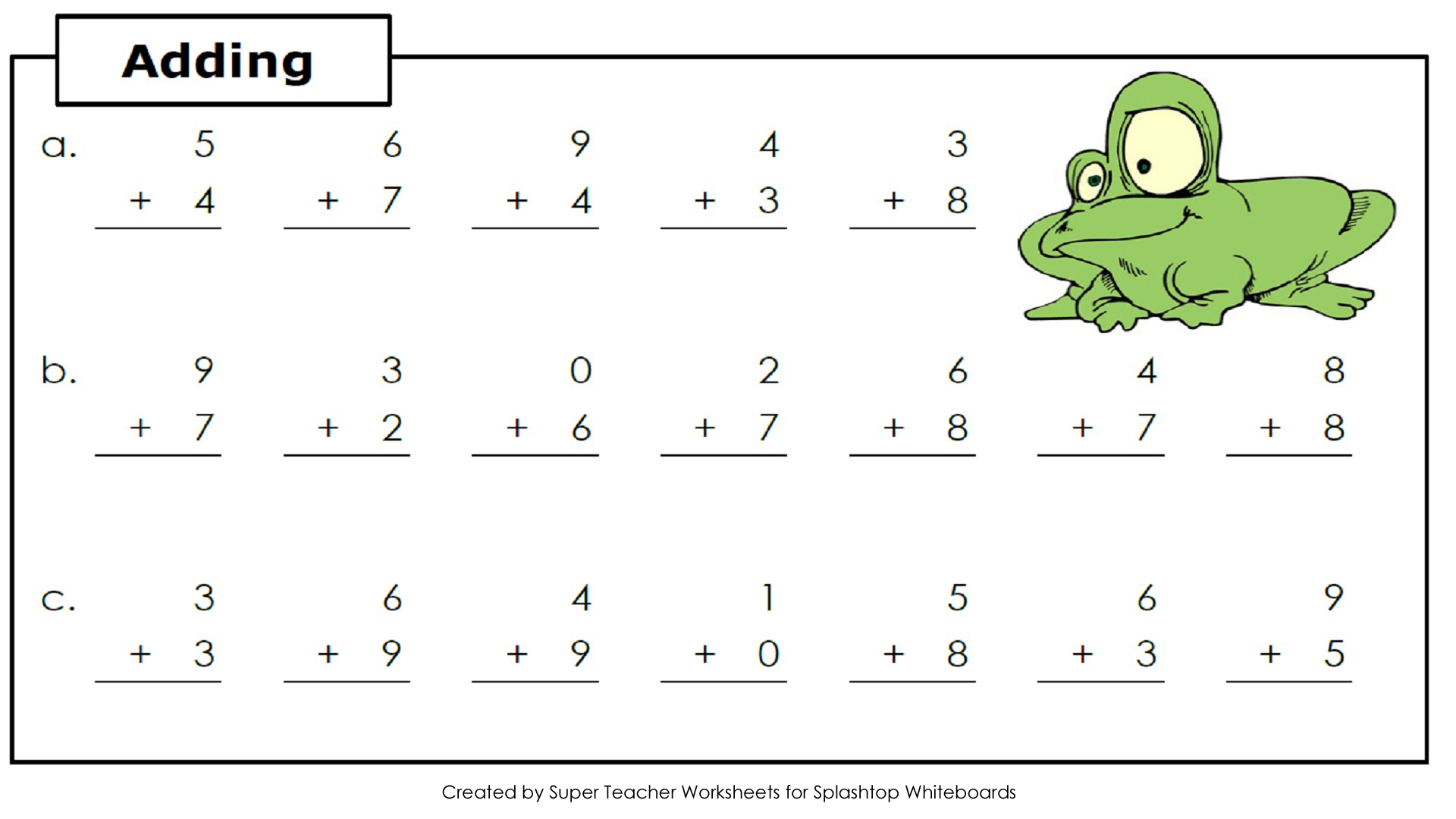 kindergarten addition and subtraction worksheets – Addition Facts Worksheets