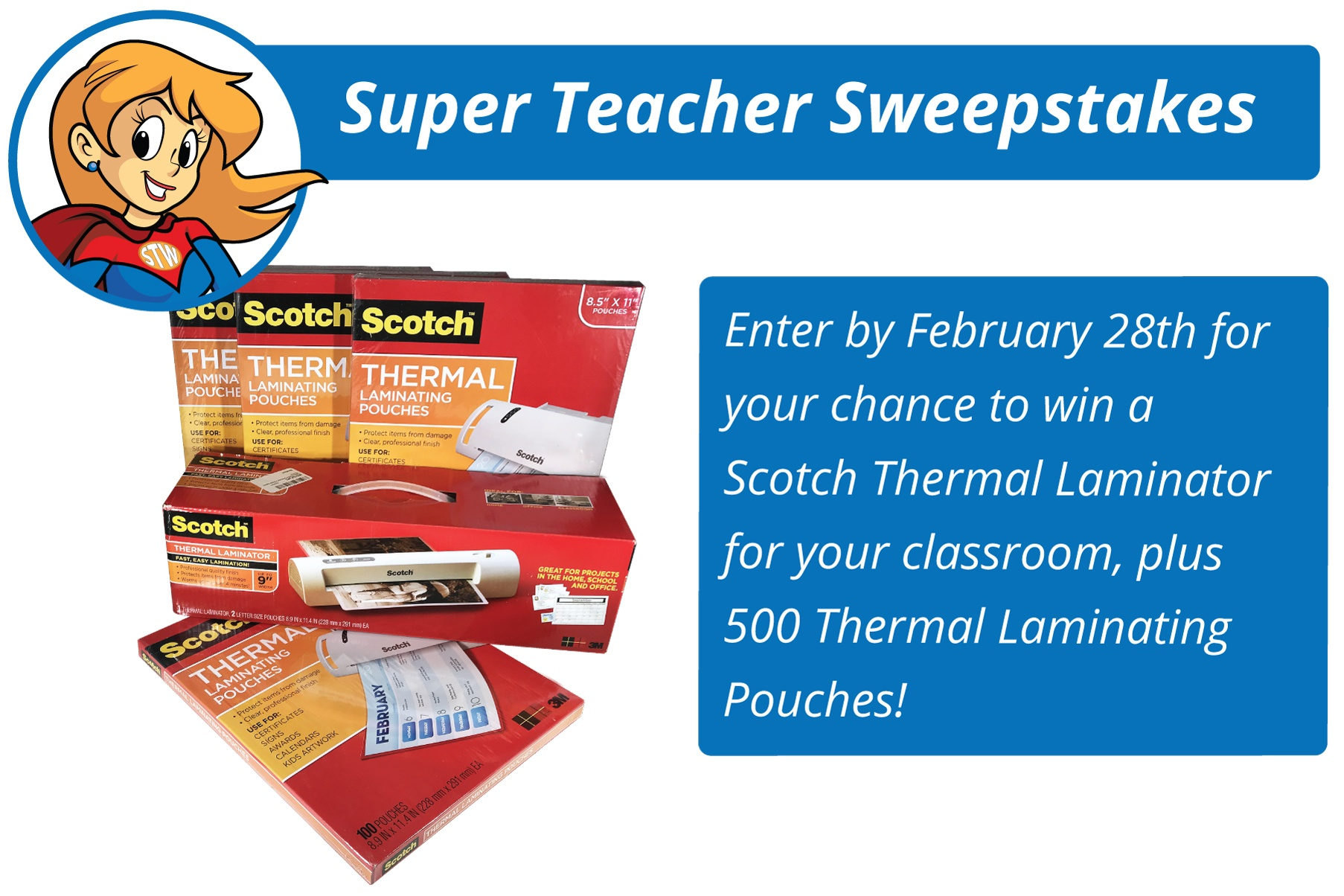Super Teacher Worksheets Monthly Contest