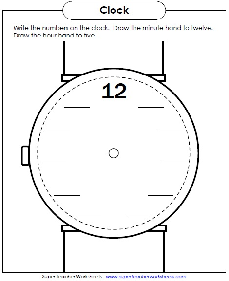 Telling Time Worksheets (Clocks)