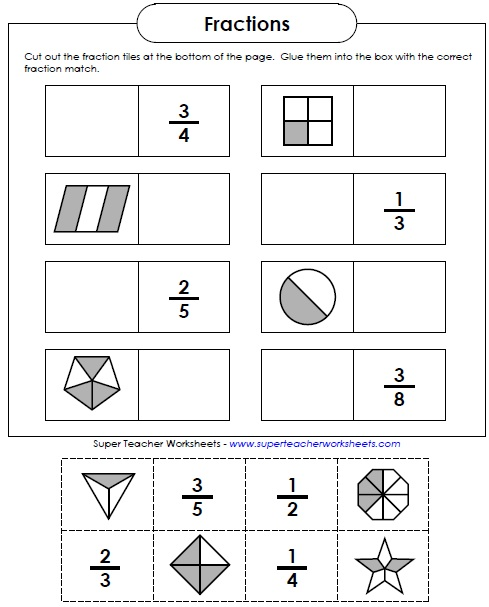 Fractions Worksheets Fraction worksheets.