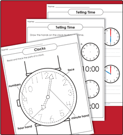 Time/Clock Worksheets