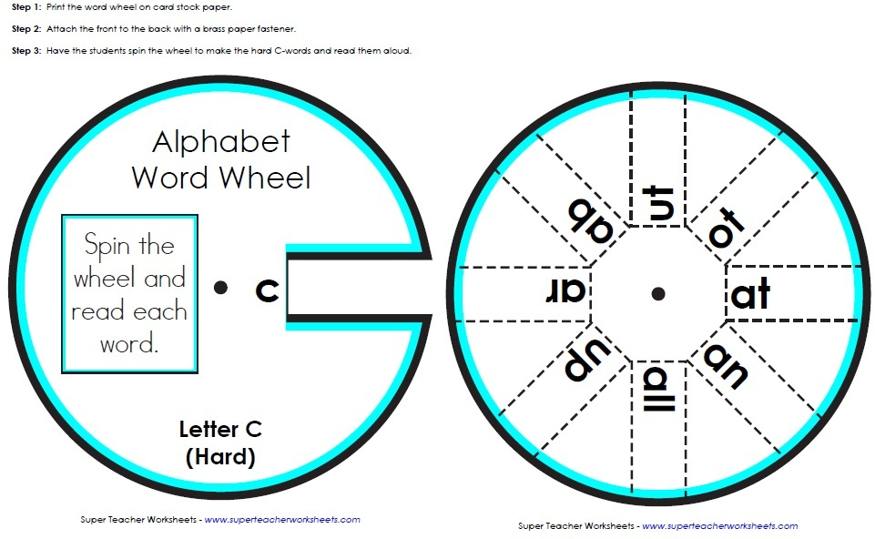 Visit the phonics worksheets page to find more word wheels for each ...
