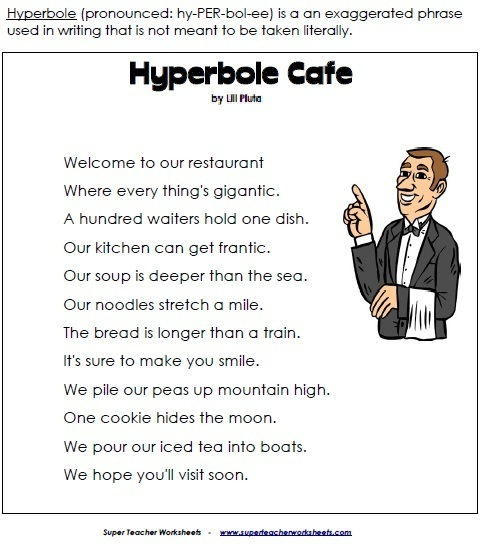 examples of hyperboles for kids image search results