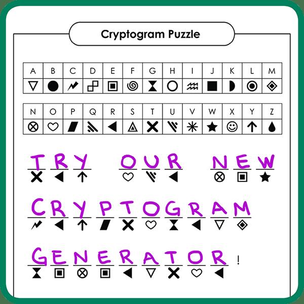 Make a Cryptogram Puzzle!
